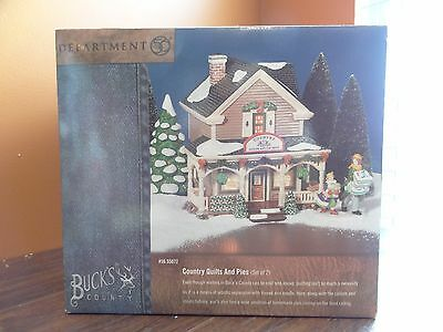 Dept 56 55072 Bucks County Country Quilts And Pies Shop Store Christmas Village