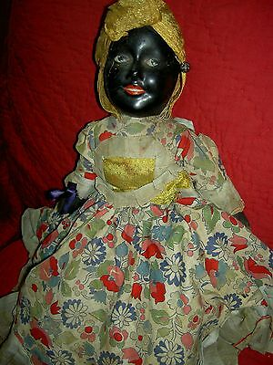 "Extremely RARE black/white compo.1930 ""Topsy-Turvy"" TWO-sided LARGE boudoir doll"