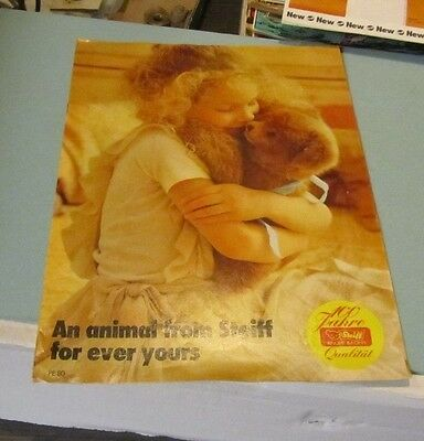 1980 Margarete Steiff Realistic Plush Animals Toy Catalog PE80 For Ever Yours