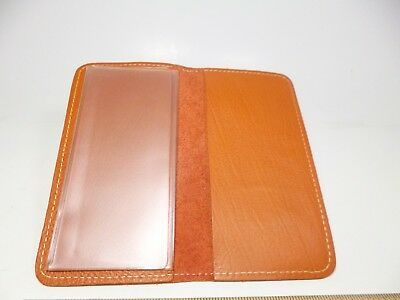 Bay State Exclusive Orange Genuine Leather Standard Checkbook Cover-Made In USA