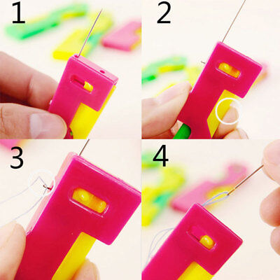 10PCS Elderly Use Automatic Needle Threader Thread Guide-Device Sewing Tool Hot