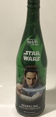 Star Wars Welch's Sparkling Grape Juice Rey FREE Ship Limited Edition