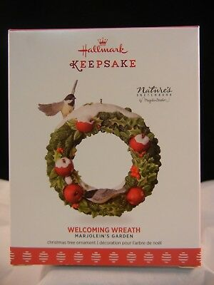 Hallmark Keepsake Ornament 2017 Welcoming Wreath - 4th in Marjolein's Garden NIB