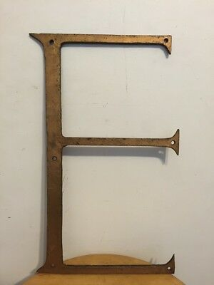 "Vintage Wrought Iron 3-D Letter ""E"" Sign Architectural Salvage"