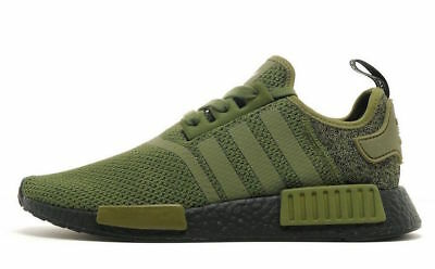 ADIDAS NMD R1 size 12.5. Black Olive Green. AQ1246. JD Sports Exclusive.