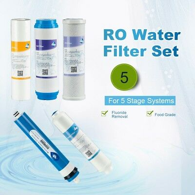 5x Complete RO Water Filter set for APEC ESSENCE ROES-50 System 50GPD Food Grade