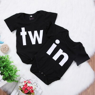 Newborn Twins Baby Girls Boys Clothes Romper Bodysuit Jumpsuit One-piece Outfits