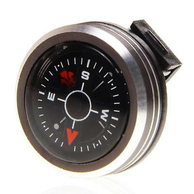 2*Hiking Travel Removable Hunting Portable Small Aluminum Alloy Watch Compass FT