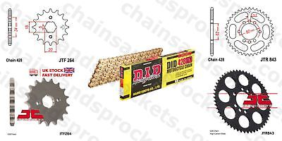 DID- All Gold Heavy Duty Chain Kit 428HDGG 126 fits Yamaha DT200 R 87