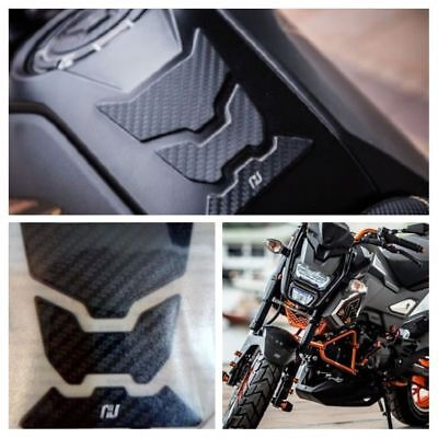 HONDA MSX 125 GROM H2C TANK PAD CARBON Black Accessories New