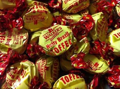 WALKERS NUTTY BRAZIL TOFFEES 400g, CLASSIC BRITISH CHEWY RETRO SWEETS, UK IMPORT