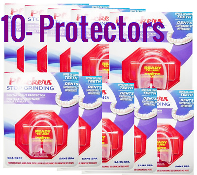 10 x PLACKERS Stop Grinding Dental Night Protector Bruxism TEETH Tooth Guard