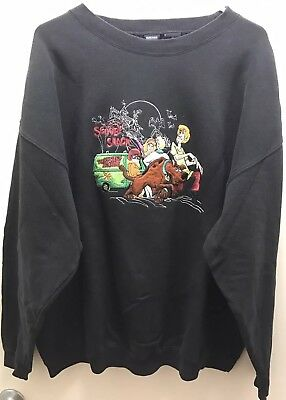 Vintage 1996 Scooby Doo Sweatshirt, Official Warner Bros Merchandise, Black, XXL