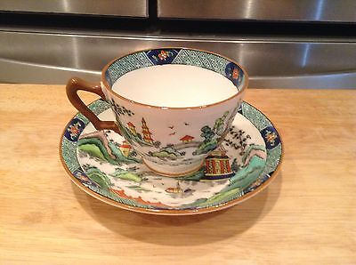 1 Set Crown Staffordshire Chinese Willow Cup & Saucer Fine Bone China England