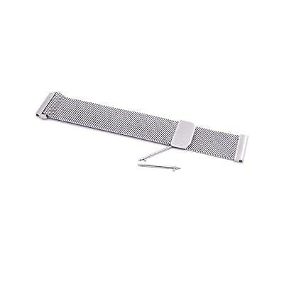 Smartwatch Fitness Armband Edelstahl Magnet silber für FitBit Charge 2