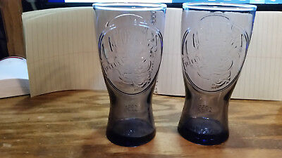 McDonald's Glasses Purple Retro 1955 Collectors MINT Commemorative Coke Set Of 2