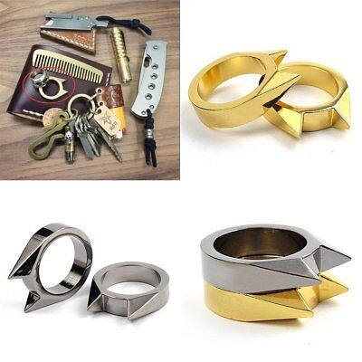 1pcs EDC Self Defence Stainless Steel Ring Finger Defense Ring Emergency Tool