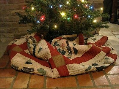 Antique/Vintage Quilt,  8 Point Star Pattern, Feed Sack Backing, Early 1900's