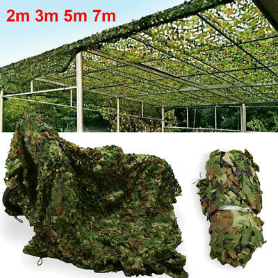 3/5/7M Hide Army Military Shooting Camouflage Net Hunting Woodlands Camo Netting