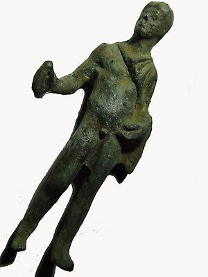 Ancient Roman Bronze Statuette Of Heracles, Very Rare (Classical Period)
