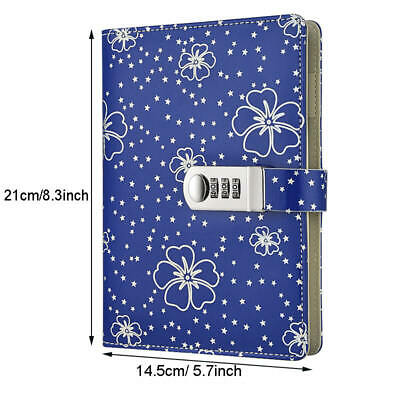 Starry Faux Leather Cover Lockable Secret Diary, Best Gift for Teenage or Adults