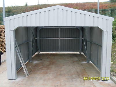 Steel Framed Building Car Port Storage Shed Vehicle Garage Barns