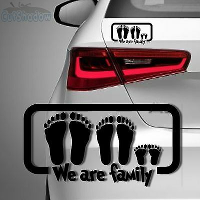 We are family Aufkleber | Familie on Board Sticker Baby Auto Kind Style decal