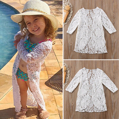 Kids Baby Girls Lace Sunscreen Dress Rashguard Clothes Outerwear Outfits 6M-5T