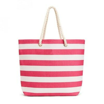 Tote Bag Extra Large Carry All Stripe Rope Strap