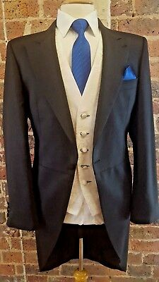 MEN`S DARK CHARCOAL GREY ASCOT TAIL COATS PURE WOOL LIGHT WEIGHT Weddings/Ascot