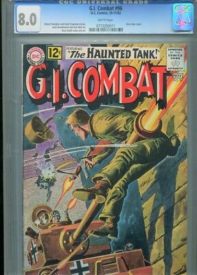 G.i. Gi Combat # 96 Cgc 8.0 1962 Dc Comics Heath Cover 3Rd Highest White Pages