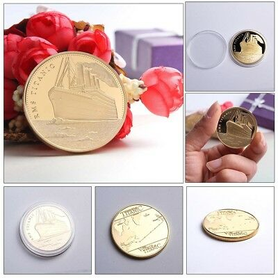 TITANIC * Worlds Largest Ship * Gold Plated Souvenir Commemorative coins Gift