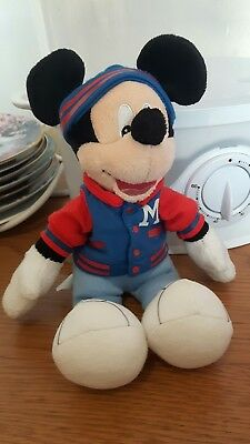 Disney Store Mickey Mouse Small Plush Soft Toy hat jacket M Official Pasedena