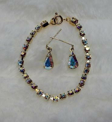 "CrystalAB Rhinestone Jewelry Necklace Earring for Cissy 18-22"" Miss Revlon Doll"