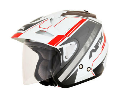 Afx Helm Fx-50 Signal Jet Helmet X-Small White/gray/red X-Small