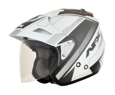Afx Helm Fx-50 Signal Jet Helmet Small White/gray/silver Small