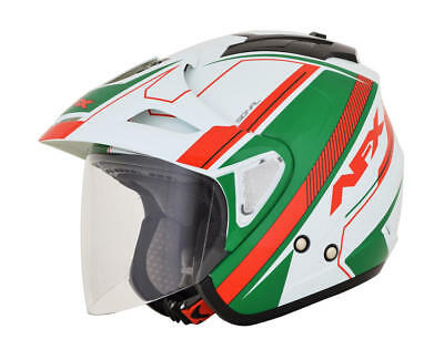Afx Helm Fx-50 Signal Jet Helmet X-Small White/green/red X-Small