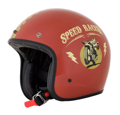 Afx Helm Fx-76 Speed Racer Vintage Jet Helmet Small Rust/gold Small