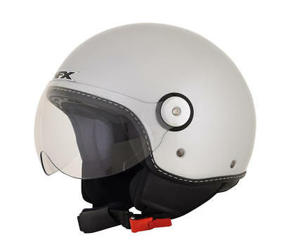 Afx Helm Fx-33 Solid Scooter Helmet Small Silver Small
