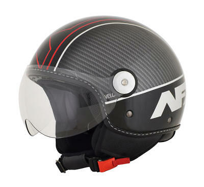 Afx Helm Fx-33 Veloce Scooter Helmet X-Small Black/red X-Small