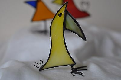 Cheeky Bird Handmade Stained Glass Suncatcher Free-Standing Ornament Decoration