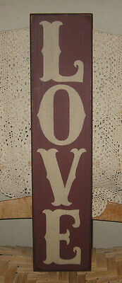 "Primitive  Country  Love-  Burgundy 24""   Sign"