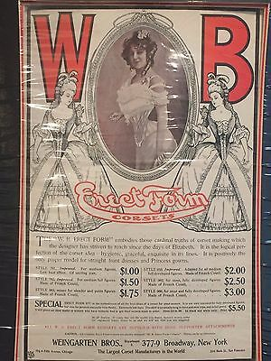 Antique Advertising Print WB Erect Form Corsets c. 1910