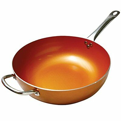 Copper Frying Pan 12-Inch Non Stick Ceramic Infused Scratch Proof Titanium Steel