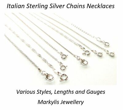 925 STERLING SILVER NECKLACE CHAIN - Various styles and lengths available
