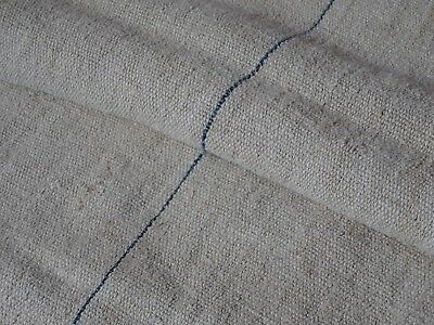 Antique European Feed Sack GRAIN SACK Blue & Red Stripe # 9863
