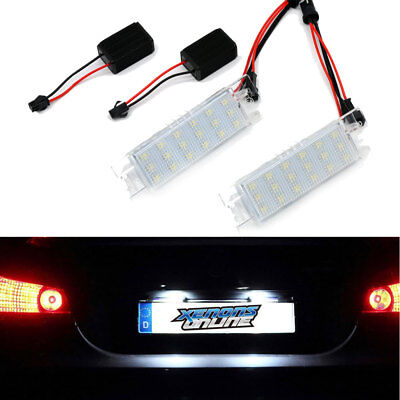 2x LED Number License Plate Light Lamp For Corsa Vectra Astra Opel Error Free UK