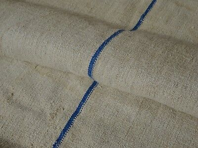 Antique European Feed Sack GRAIN SACK Blue Stripe # 9872