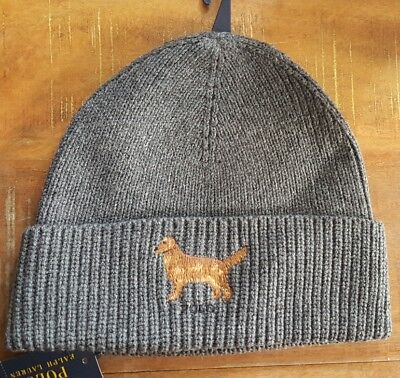 RALPH LAUREN POLO Golden Retriever WATCH CAP BEANIE SKI HAT Skull Cap NWT