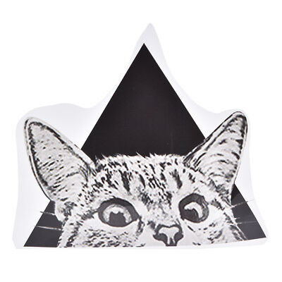 1pc triangle cat pattern patches ironing stickers heat transfer iron on patches-